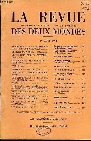 LA REVUE LITTERATURE, HISTOIRE, ARTS ET SCIENCES DES DEUX MONDES N°15 - AU CANADA. — LE IIIe ...