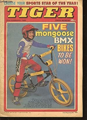 TIGER - FIVE MONGOOSE BMX BIKES TO BE WON / CHOOSE YOUR SPORTS STAR OF THE YEAR ! / ...
