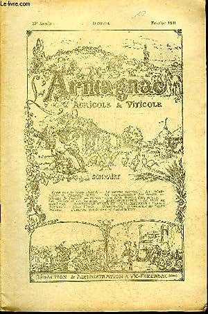 L'ARMAGNAC AGRICOLE ET VITICOLE 23E ANNEE FEVRIER 1941 - Ceux que la terre attend - le sorgho ...