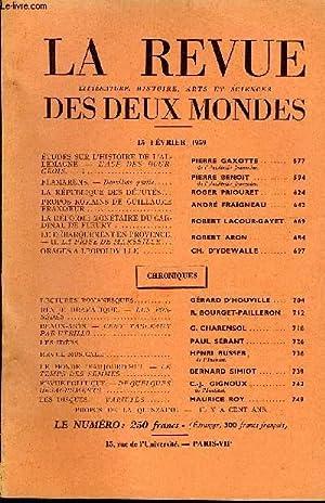 LA REVUE LITTERATURE, HISTOIRE, ARTS ET SCIENCES DES DEUX MONDES N°4 - ETUDES SUR L'HISTOIRE DE...