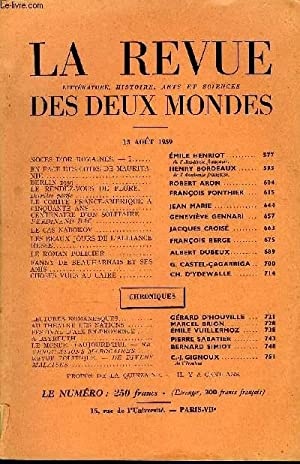 LA REVUE LITTERATURE, HISTOIRE, ARTS ET SCIENCES DES DEUX MONDES N°16 - NOCES D'OR ROMAINES. — ...