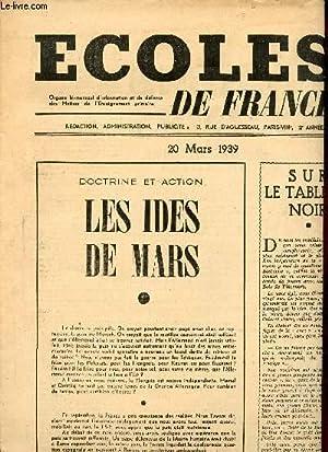 ECOLE DE FRANCE- N°5 ANNEE 2/ 20 MARS 1939SOMMAIRE : L'EDUCATION PHYSIQUE A L'...