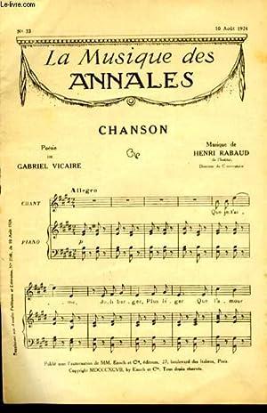 LA MUSIQUE DES ANNALES. CHANSON / CHANSON DU VIN D'ALSACE / NE M'OUBLIEZ PAS: ...