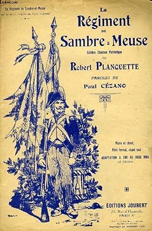 LE REGIMENT DE SAMBRE ET MEUSE: PLANQUETTE ROBERT