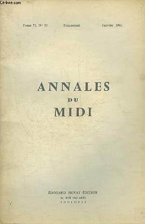 ANNALES DU MIDI REVUE DE LA FRANCE: COLLECTIF