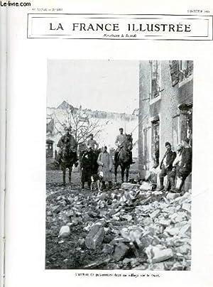 LA FRANCE ILLUSTREE N° 2093 - l'arrivée de prisonniers dans un village sur le front...
