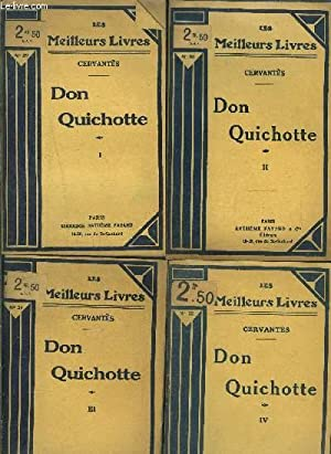 DON QUICHOTTE- 4 TOMES EN 4 VOLUMES- 1 + 2 + 3 + 4: CERVANTES