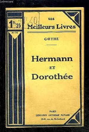 HERMANN ET DOROTHEE: GOETHE .