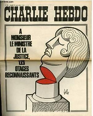 CHARLIE HEBDO N°45 - A MONSIEUR LE MINISTRE DE LA JUSTICE, LES OTAGES RECONNAISSANTS: CABU - ...