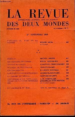 LA REVUE LITTERATURE, HISTOIRE, ARTS ET SCIENCES DES DEUX MONDES N°9 - L'AFFAIRE DU PARC DE LA ...