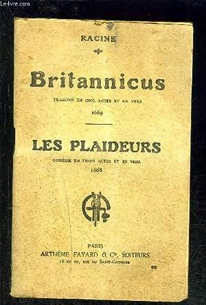 BRITANNICUS- LES PLAIDEURS- VENDU EN L ETAT: RACINE