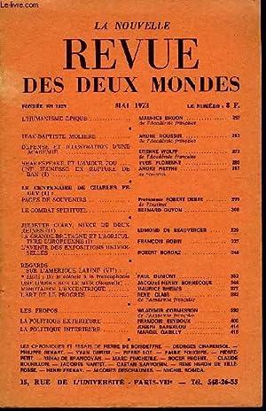 LA NOUVELLE REVUE DES DEUX MONDES N°5: COLLECTIF