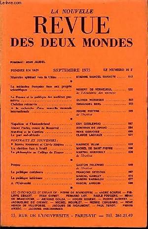LA NOUVELLE REVUE DES DEUX MONDES N°9: COLLECTIF