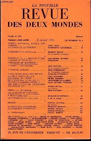 LA NOUVELLE REVUE DES DEUX MONDES N°7: COLLECTIF