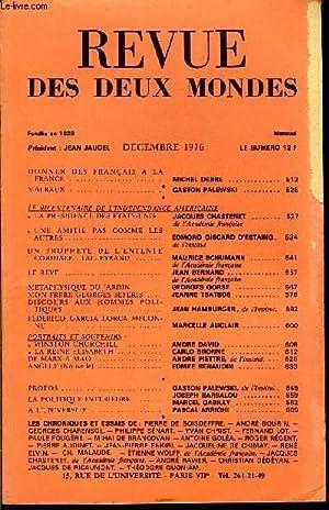 LA NOUVELLE REVUE DES DEUX MONDES N°12: COLLECTIF