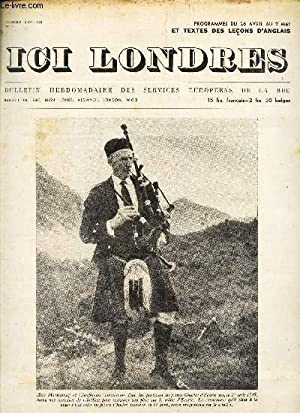 ICI LONDRES - N°272 - 16 abvil 1953 / ALEX MacKELLAIF OF GLENFINNAN (photo). / LES ...