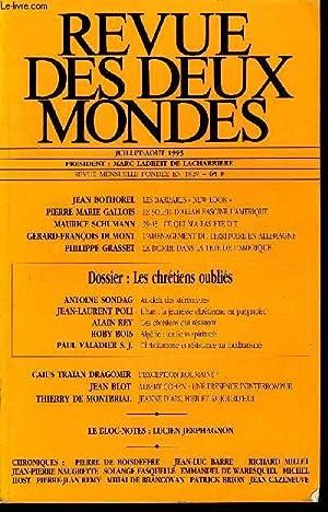 REVUE DES DEUX MONDES N°7-8 - JEAN: COLLECTIF