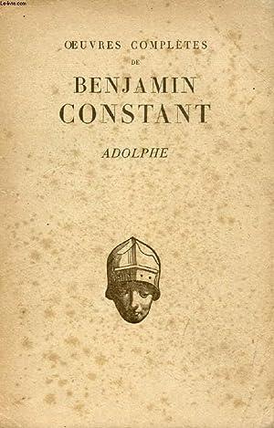 ADOLPHE: CONSTANT BENJAMIN, Par J. BOMPARD