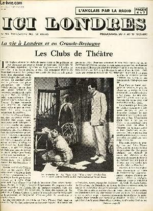 ICI LONDRES - N°408 - 2 DECEMBRE 1955 / LES CLUBS DE THEATRE / L'INTELLIGENCE ...