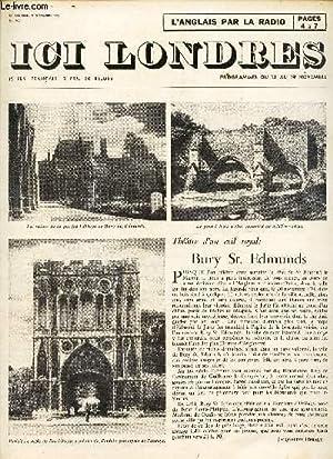 ICI LONDRES - N°405 - 11 NOVEMBRE 1955 / BURY St. EDMUNDS / LES CURIOSITES DE LA LITTERATURE D'...