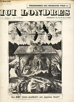 ICI LONDRES - N°411 - 23 DECEMBRE 1955 / LA BBC vous souhaite un joyeux Noel! / ...