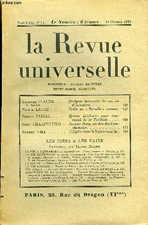 LA REVUE UNIVERSELLE TOME 71 N°14 - Georges CLAUDE de l'institut. Quelques Souvenirs de ma vie ...