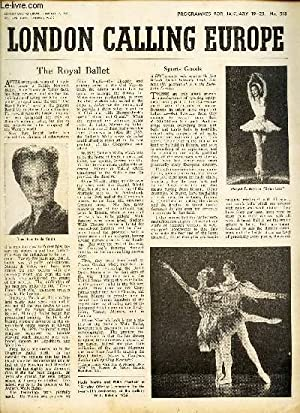 LONDON CALLING EUROPE - N°518 - JANUARY 17 / THE ROYAL BALLET / SPORTS GOODS etc.: ...