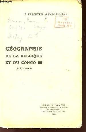 GEOGRAPHIE DE LA BELGIQUE ET DU CONGO: KRAENTZEL F. /