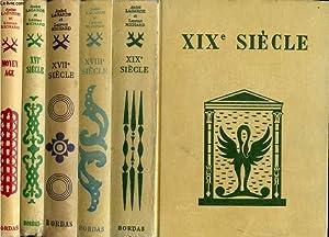 LES GRANDS AUTEURS FRANCAIS DU PROGRAMME, 5 VOLUMES (MOYEN AGE / XVIe SIECLE / XVIIe ...