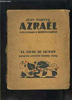 AZRAEL- LE LIVRE DE DEMAIN N°223- VENDU EN L ETAT: MARTET JEAN