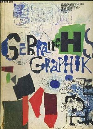 GEBRAUCHSGRAPHIK INTERNATIONAL ADVERTISING ART 4/AVRIL 1965 B: COLLECTIF
