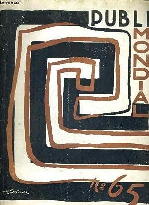 PUBLIMONDIAL N°65 - OCT. NOV. 1954 - Revue International d'Art Graphique et de ...