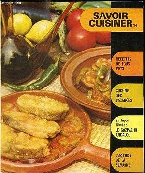SUPPLEMENT SAVOIR CUISINER 34 / recettes de: COLLECTIF