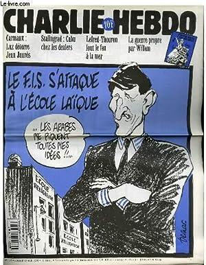 """CHARLIE HEBDO N°111 - LE F.I.S S'ATTAQUE A L'ECOLE LAIQUE """"LES ARABES ME PIQUENT..."""