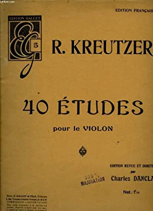 40 ETUDES POUR LE VIOLON: KREUTZER R.