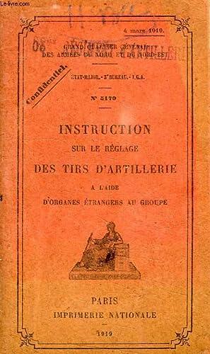 INSTRUCTION SUR LE REGLAGE DES TIRS D'ARTILLERIE, A L'AIDE D'ORGANES ETRANGERS AU ...