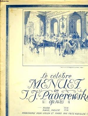 CELEBRE MENUET OP14 N°1: PADEREWSKI I.J.