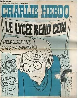 """CHARLIE HEBDO N°226 - LE LYCEE REND CON """"HEUREUSEMENT APRES IL Y A L'ARMEE: CABU - ..."""