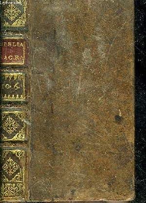 BIBLIA SACRA TOME 6 - MANASSAE ORATIO: COLLECTIF