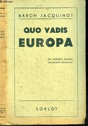 QUO VADIS EUROPA: JACQUINOT BARON