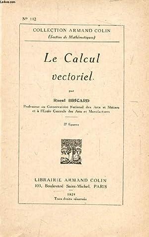 LE CALCUL VECTORIEL: BRICARD RAOUL