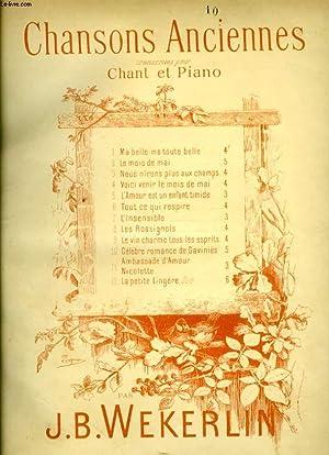 CHANSONS ANCIENNES N°10 LA CELEBRE ROMANCE DE GAVINIES: WERKERLIN J.B