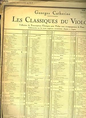 LES CLASSIQUES DU VIOLON TROISIEME ETUDE: CHOPIN