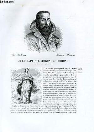 Biographie de Jean-Baptiste Moroni ou Morone (né vers 1535, mort en 1578) ; Ecole Italienne ...