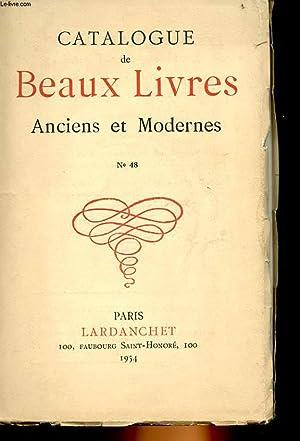 BEAUX LIVRES ANCIENS ET MODERNES CATALOGUE N°48: COLLECTIF