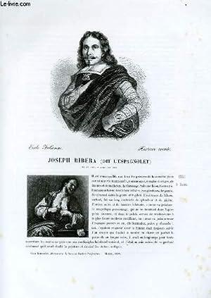 """Biographie de Joseph Ribera """"dit l'Espagnolet"""" (1588-1656) ; Ecole Italienne ; ..."""