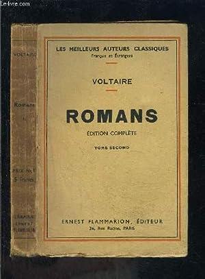 ROMANS- TOME 2- Tome 2: L'Ingénu- La: VOLTAIRE .