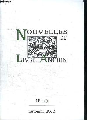 NOUVELLES DU LIVRE ANCIEN - N°110 -: DALARUN JACQUES -