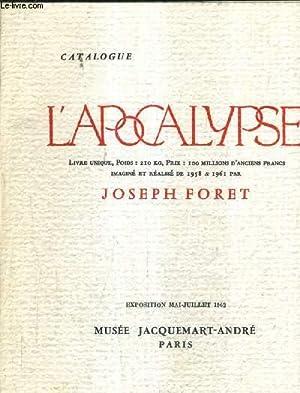 CATALOGUE L'APOCALYPSE LIVRE UNIQUE 210 KG PRIX: FORET JOSEPH