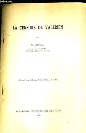 LA CENSURE DE VALERIEN - EXTRAIT DES: M.BESNIER